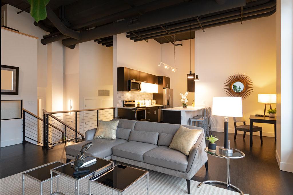 Luxury Kitchen Living Dining Area