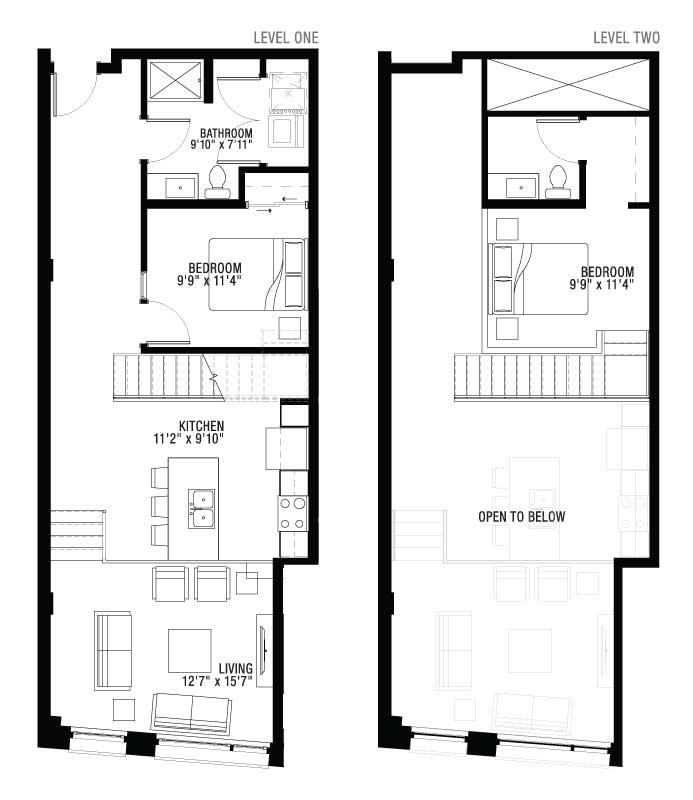 2 Floor 2 Bedroom Apartment Floor Plan